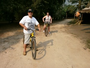 customers riding bikes in thailand