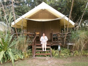 customer at bungalow in thailand