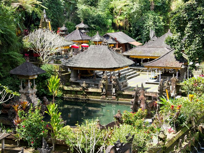 Gunung Kawi Water Temple in indonesia