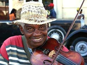 local musician smiling in cuba