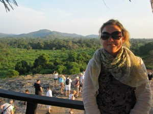rickshaw staff ceri overlooking view in sri lanka
