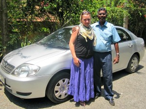 staff ceri with local driver in sri lanka