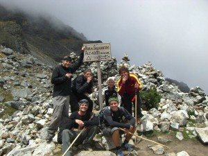 trekking group on salkantay