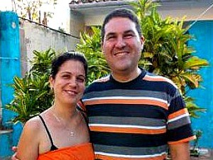couple smiling in cuba