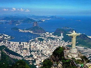 overlook of city of rio in brazil