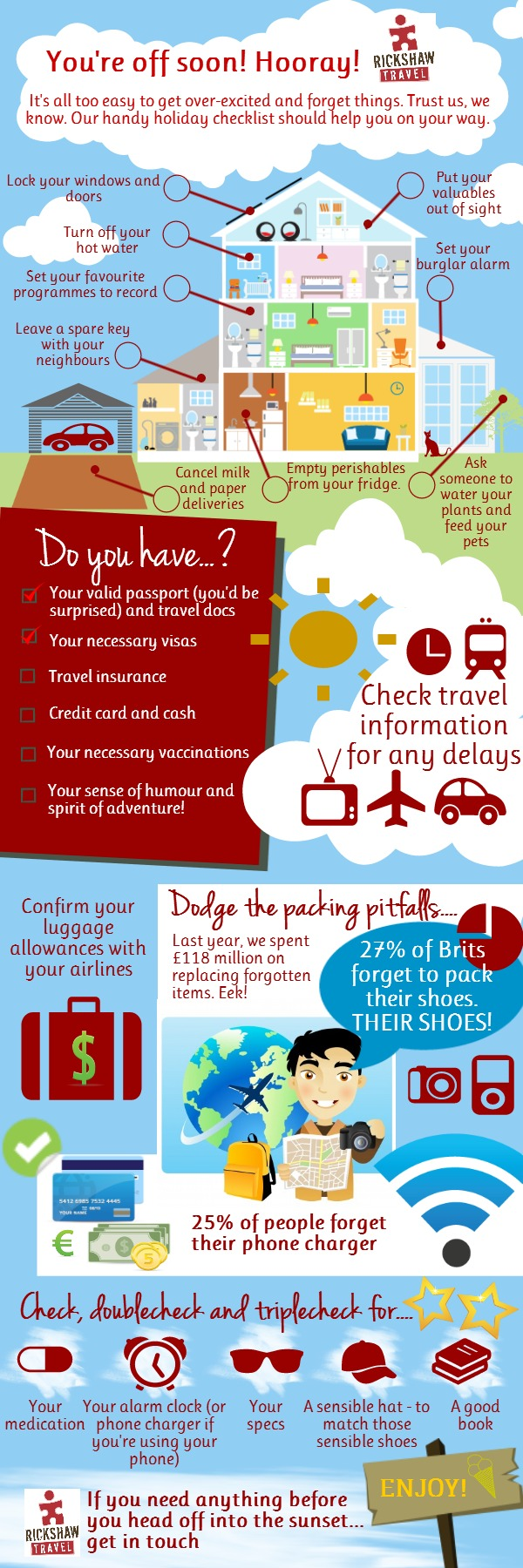 Rickshaw Travel packing infographic