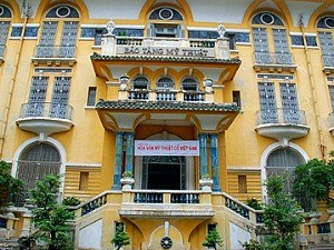 yellow museum exterior in vietnam
