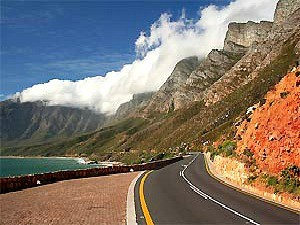 winding road in south africa