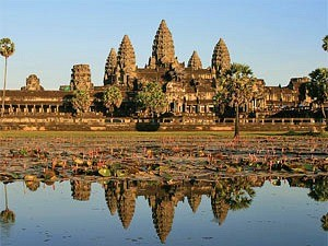 angkor wat temple complex in cambodia