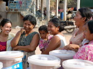 smiling locals in cambodia