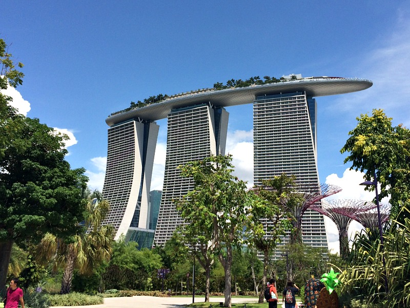 silver building in singapore