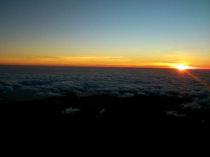 sunrise above the clouds indonesia