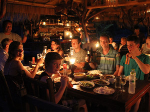 Family eating in Thailand