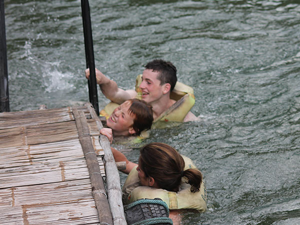 Family in River Kwai, Thailand