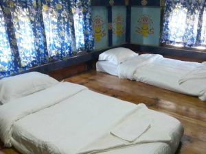 homestay bedroom in chimi lhakhang in bhutan