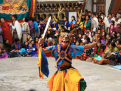 Dancer wearing traditional dress
