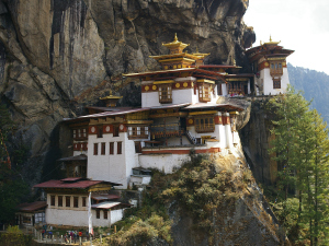 View of a Monastery in Bhutan, Paro Tiger