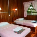 Borneo hotel room beds
