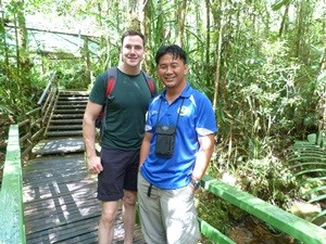 Man with local guide