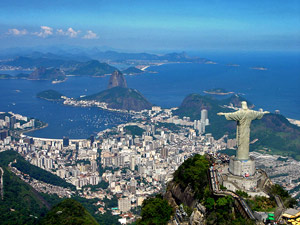 rio landscape with christ the redeemer