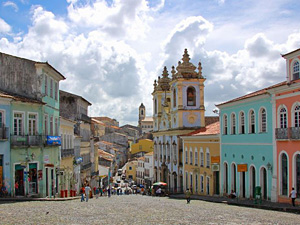 colourful buildings in Salvador, Brazil