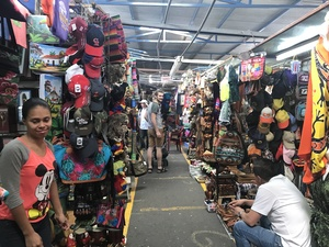 City walk excursion shows locals selling their products in market