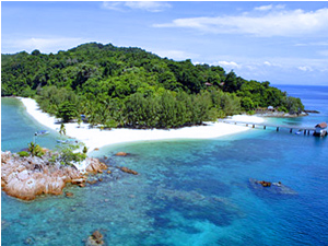 View of Malaysian Islands on the East Coast