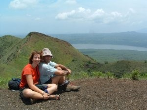 Couple on top of the hill in Nicaragua