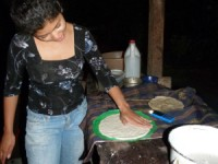 local woman making tortillas