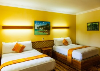 twin room of the accommodation