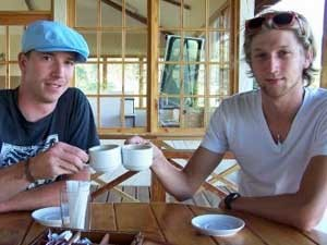 two men having a coffee in panama