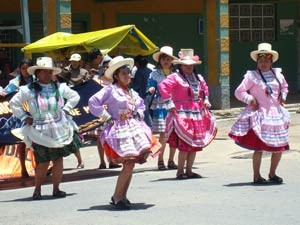 Women dancing at a festival