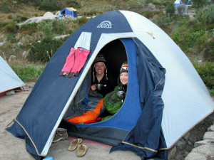 customers camping on the inca trail