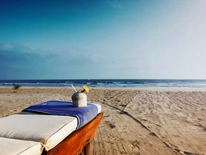 sunbed on Ho tram beach, vietnam