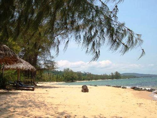 View of a sandy beach in Phu Quoc Vietnam