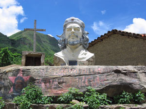 Bolivia sculpture of che