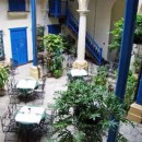 Bright courtyard of the hotel