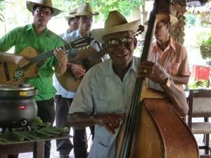 Local men playing music