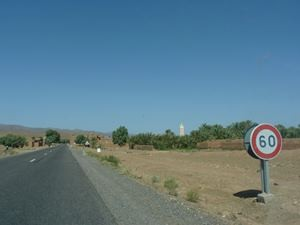 Open road with no cars in Morocco