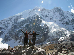 Trekkers on the Salkantay Trek in Peru