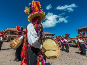 Local dancing with drums
