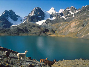 Huaraz scenery lake