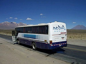 Bus on road