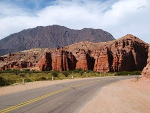 View at the rocks from the road