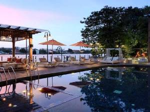 thailand nagkok hotel outdoor pool with trees