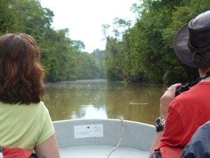 couple wildlife spotting in borneo