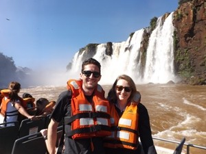 couple at iguazu falls