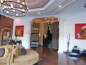 Inside the lobby of In Style Cambodia hotel