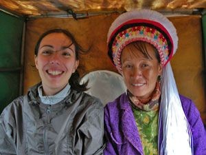 woman with local smiling in headress