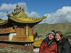 Chinese temple couple